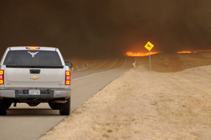 Лісові пожежі в Техасі