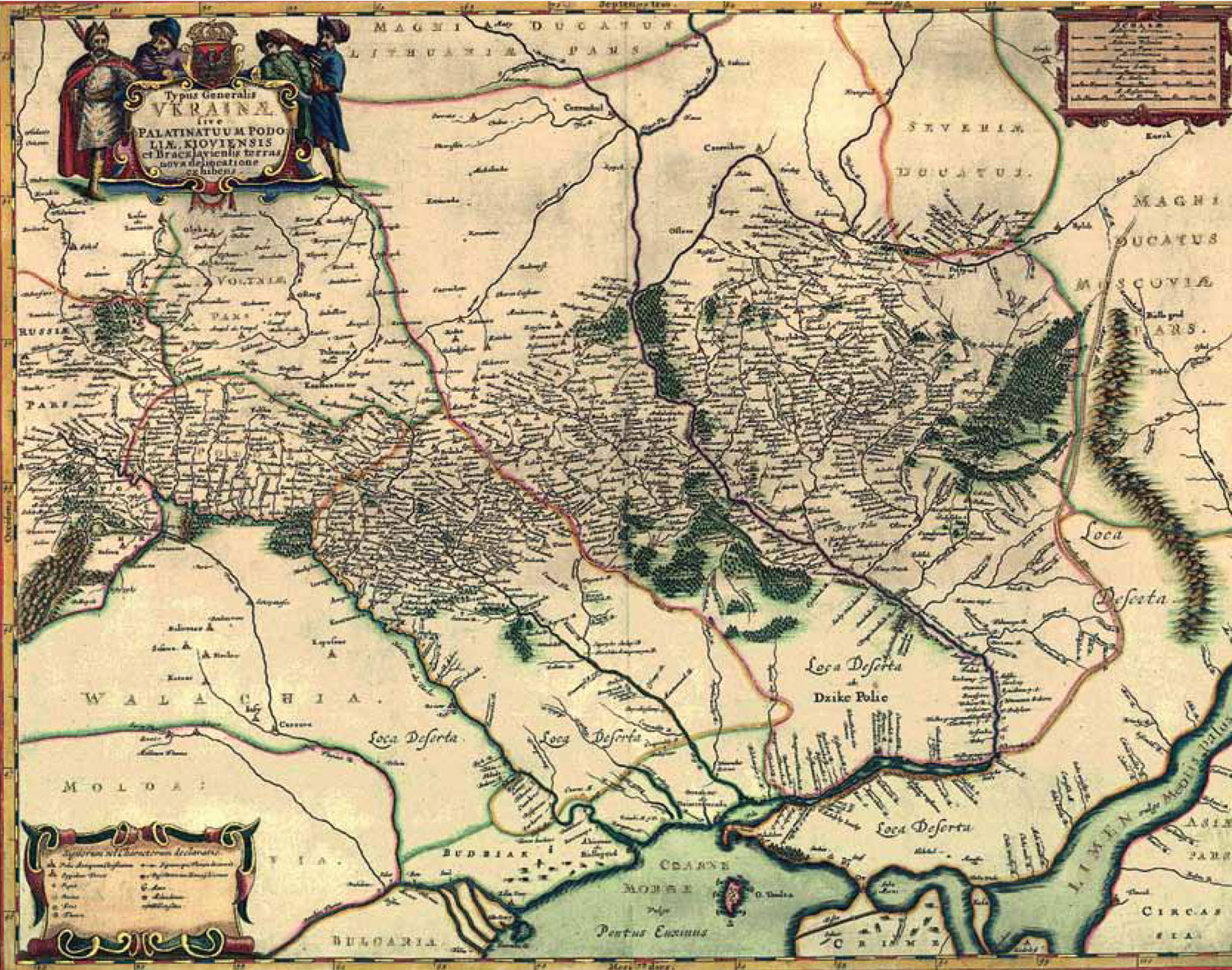 ukraine was present on guillaume de beauplans map