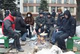 Донецькі чорнобильці продовжують голодувати після знесення намету