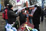 У центрі Донецька чорнобильці із труною заблокували рух