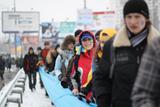 Українці об'єднали два береги Дніпра живим ланцюгом