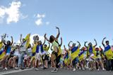 У Києві фанати влаштували парад на підтримку збірної України