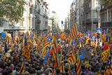 Каталонці провели масову демонстрацію за відокремлення Каталонії від Іспанії