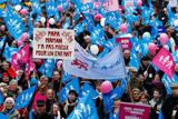 Десятки тисяч французів вийшли на акцію протесту проти одностатевих шлюбів