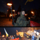 Мешканці міста Дубно розгорнули величезний червоно-чорний прапор
