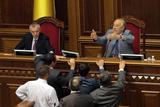 Засідання Верховної Ради. Спроба опозиції заблокувати трибуну, звільнення в ЦВК і призначення у Мін'юсті