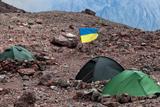 Український прапор на горі Казбек