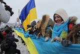 День Соборності України на мосту Патона