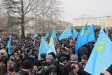Мітинг кримських татар будівлі Верховної Ради Криму