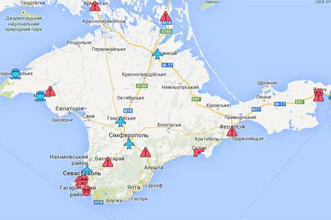 Карта захоплень українських