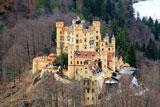 Неоготична архітектура замку Хоеншванґау у Німеччині