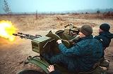Навчальні стрільби нацгвардійців з зенітної установки ЗУ-23-2