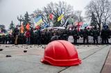Протест шахтарів під Радою