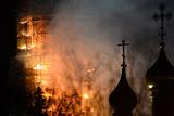 У центрі Москви горів Новодівичій монастир