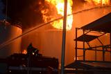 Масштабна пожежа на території нафтобази під Києвом