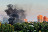Донецьк після обстрілу террористів