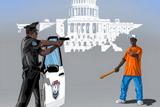 Сатиричні ілюстрації, присвячені поліцейським