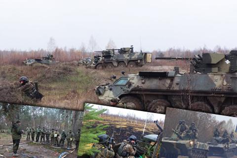Військові навчання десантників 25 повітрянодесантної бригади ВДВ