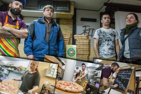 Як учасники АТО готують піцу для військових госпіталів