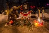 На Грушевського вшанували пам'ять перших загиблих активістів Майдану