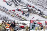 В американському штаті Пенсільванія зіткнулися понад 50 машин