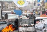 Таксисти у Києві провели акцію протесту проти Uber