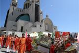 Страсна п'ятниця. Виставлення Плащаниці в в Патріаршому соборі Воскресіння Христового УГКЦ в Києві