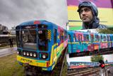 Художник з Іспанії розмалював потяг київського метро