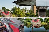 Активісти розмалювали зруйнований міст поблизу Слов'янська
