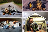 Вуличні 3D малюнки італійської художниці Вери Буґатті