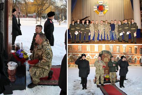 У Київському військовому ліцеї імені Івана Богуна вшанували пам'ять загиблих захисників Донецького аеропорту