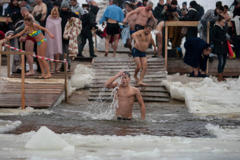 Водохресні купання в Києві
