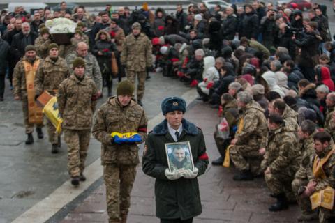 Київ попрощався із загиблим під Авдіївкою Леонідом Дергачем