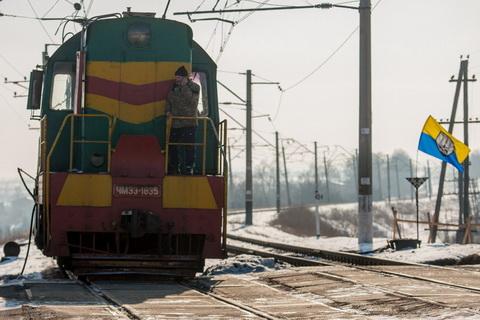 Протестувальники заблокували рух залізничною колією в Бахмуті