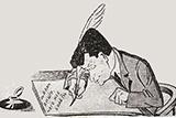 Літературна дискусія в шаржах і пародіях