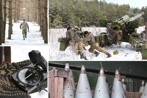 """Луганський напрямок. Військові артилеристи відпрацьовують сигнал """"тривоги"""""""