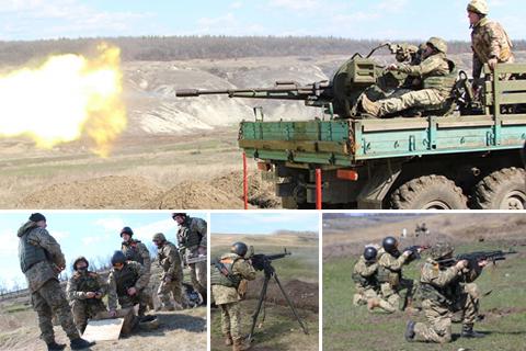 Захисники Луганського напрямку вдосконалюють свої навички на полігоні
