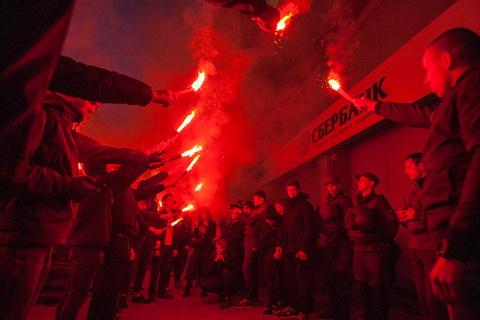 Нацкорпус намагався заблокувати Сбєрбанк у Києві