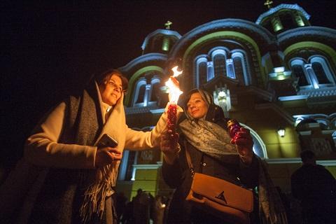 Великодня служба у Володимирському соборі