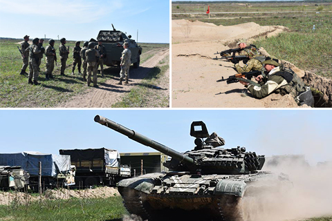 Резервісти оперативного резерву на полігоні відточують бойову майстерність