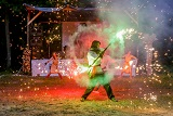 Вогняне шоу на Трухановому острові в День Києва