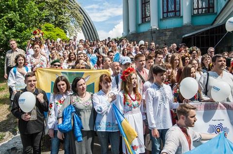Мегамарш вишиванок у Києві
