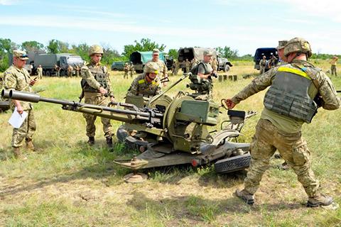 В ОТУ «Маріуполь» визначили кращий бойовий розрахунок ЗУ-23 Сил АТО