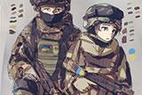 Японський художник малює українських героїв у стилі аніме