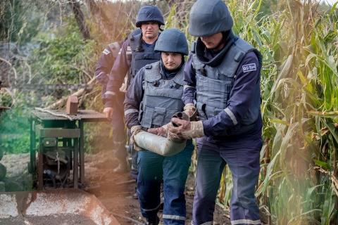 Наслідки вибуху військових складів у Калинівці