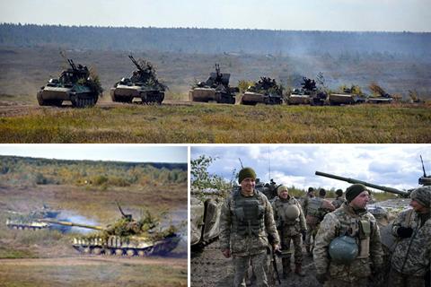 Поблизу Житомира, відбулись навчання зведеної тактичної групи Сухопутних військ