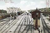 Київський залізничний вокзал на старих фотознімках і листівках