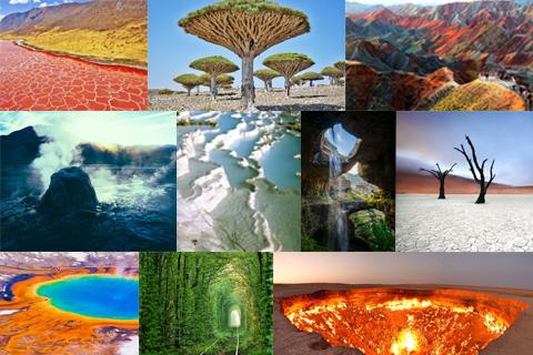 Пейзажі природного сюрреалізму