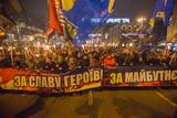 Смолоскипний марш у Києві на честь Степана Бандери