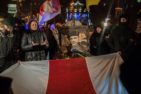 У  Києві вшанували пам'ять героя Небесної сотні Михайла Жизневського